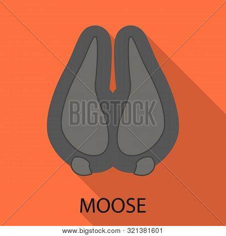 Vector Design Of Moose And Hoof Symbol. Set Of Moose And Tracks Vector Icon For Stock.