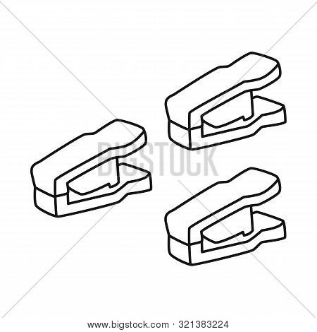 Isolated Object Of Peg And Clothespeg Icon. Set Of Peg And Laundry Stock Symbol For Web.