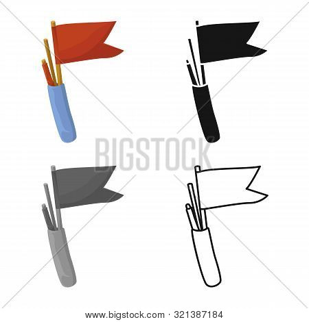 Isolated Object Of Flag And Pennant Icon. Set Of Flag And Naval Stock Symbol For Web.