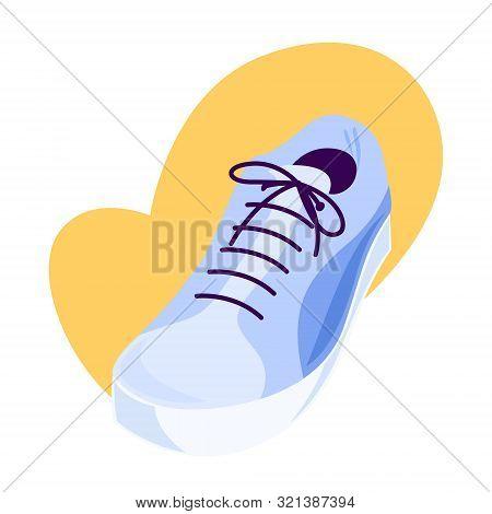 Sport Shoe, Sneakers With Shoelace. Jogging Footwear.