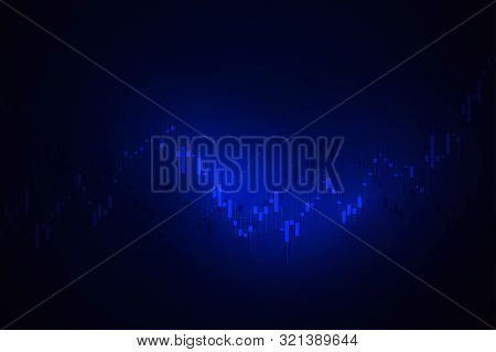 Economic Graph With Diagrams On The Stock Market, For Business And Financial Concepts And Reports. J
