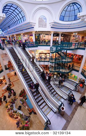JERUSALEM - FEBRUARY 19: Malha Mall February 19, 2012 in Jerusalem, IL. One of seven built by David Azrieli, the Malha Mall opened in 1993 with 260 stores and a shopping area of 37,000 m�².