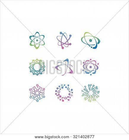 Molecular Atom Neutron Laboratory Icon Vector Stock