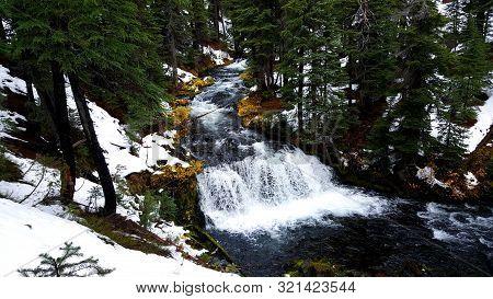 An Early Snow Comes To Mt. Bachelor, Oregon