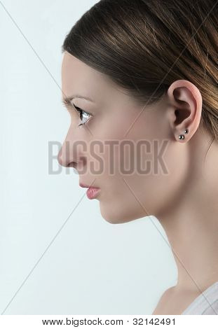 Profile of woman's face