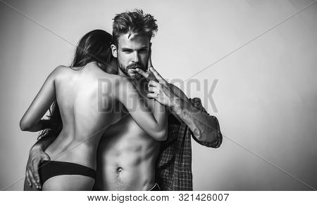 Sensual Couple Kiss. I Love You. Couple In Love. Romantic And Love. Intimate Relationship And Sexual