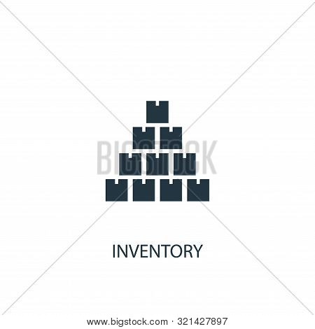 Inventory Icon. Simple Element Illustration. Inventory Concept Symbol Design. Can Be Used For Web