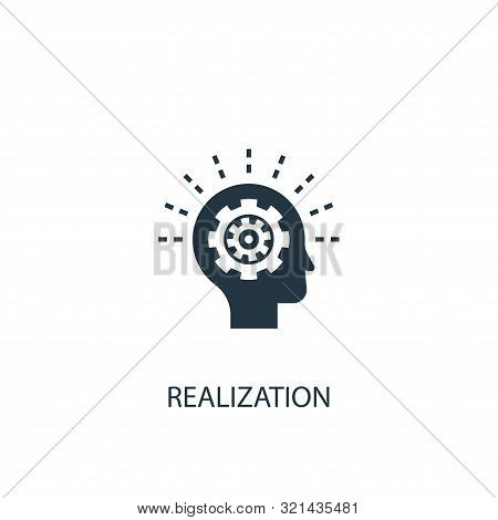 Realization Icon. Simple Element Illustration. Realization Concept Symbol Design. Can Be Used For We