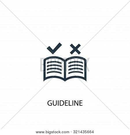 Guideline Icon. Simple Element Illustration. Guideline Concept Symbol Design. Can Be Used For Web