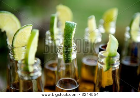 Many Limes In Multiple Beers