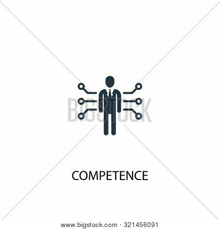 Competence Icon. Simple Element Illustration. Competence Concept Symbol Design. Can Be Used For Web