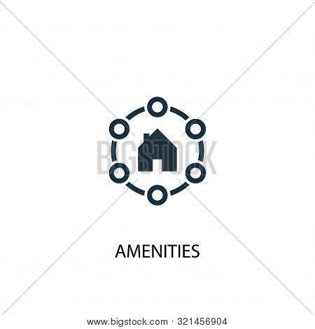 Amenities Icon. Simple Element Illustration. Amenities Concept Symbol Design. Can Be Used For Web