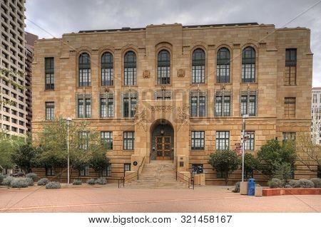 Phoenix, Arizona/united States- January 9, 2018: Maricopa County Courthouse In Phoenix. The Maricopa