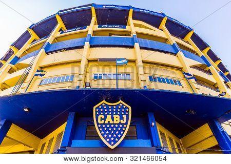 Buenos Aires, Argentina - July 18, 2017: The Bombonera, Stadium Of Boca Juniors