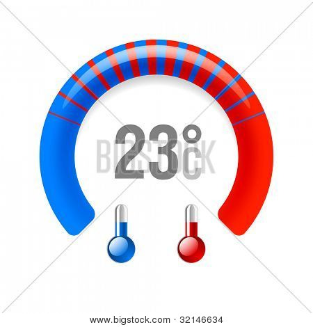 Thermometer. Vector.