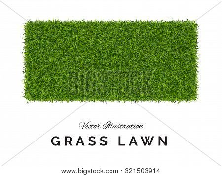 Fake Green Grass Or Astroturf Square Background Isolated