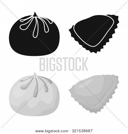 Vector Design Of Products And Cooking Sign. Collection Of Products And Appetizer Stock Symbol For We