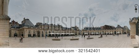 Dijon, Burgundy / France - 27 August 2019: Panorama View Of The Place De La Liberacion Square In The