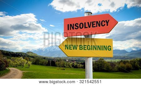 Street Sign To New Beginning Versus Insolvency