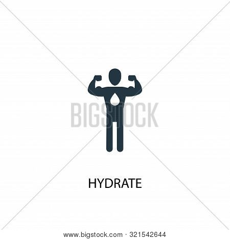 Hydrate Icon. Simple Element Illustration. Hydrate Concept Symbol Design. Can Be Used For Web