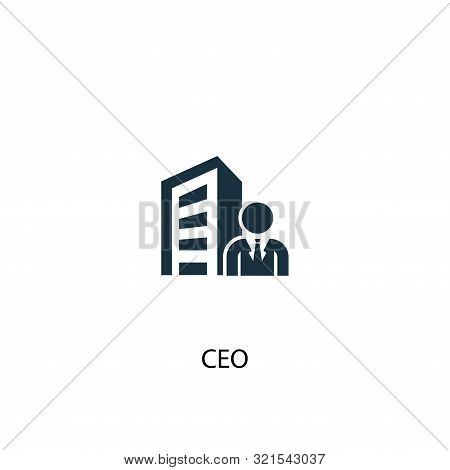 Ceo Icon. Simple Element Illustration. Ceo Concept Symbol Design. Can Be Used For Web