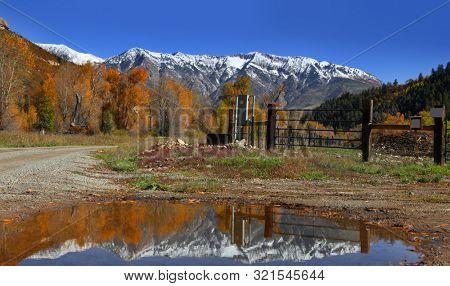 Scenic landscape in Gunnison national forest, Colorado
