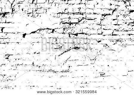 Vector Grunge Texture Background, An Old Brick Wall.