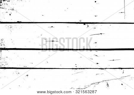 Old Wall, Horizontal Planks. Vector Subtle Wooden Texture. Abstract Background.