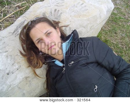 Girl On A Rock