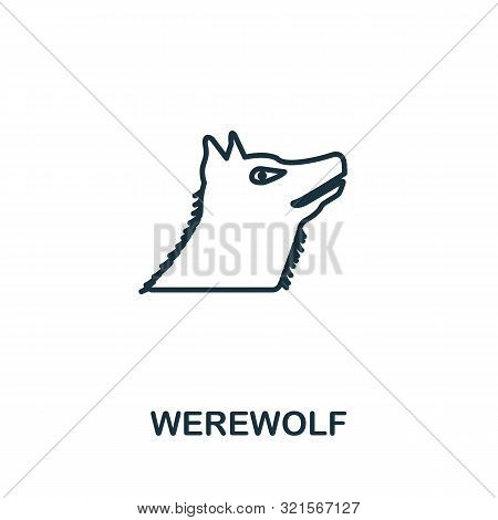 Werewolf Outline Icon. Thin Line Style From Halloween Icons Collection. Pixel Perfect Simple Element