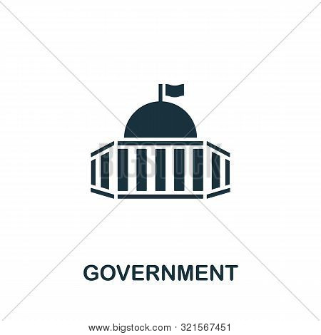 Government Vector Icon Symbol. Creative Sign From Buildings Icons Collection. Filled Flat Government