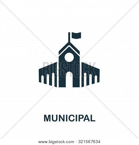 Municipal Vector Icon Symbol. Creative Sign From Buildings Icons Collection. Filled Flat Municipal I