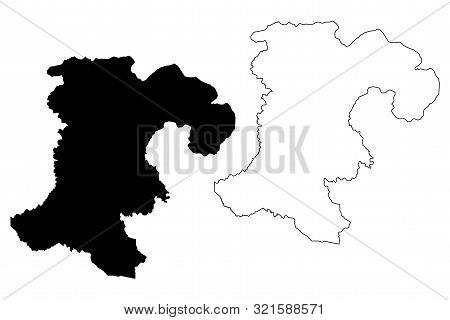 Champasak Province (lao People's Democratic Republic, Muang Lao, Provinces Of Laos) Map Vector Illus