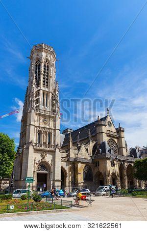 Paris, France - June 23, 2017: View Of The Roman Catholic Church Of Saint-germain-l Auxerrois (built