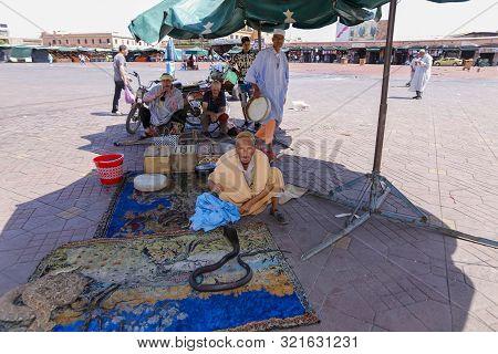 Snake Charmer In Marrakesh