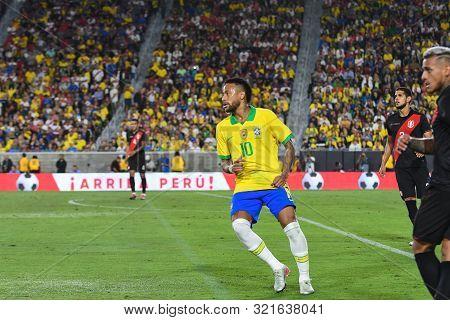 Brazilian Soccer Player Neymar Jr, During International Friendly Soccer Match.