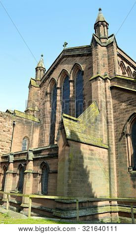 Chester, Cheshire, England, Uk, Europe - April 19, 2019 : The Historical St John The Baptist Church