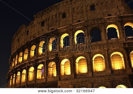 The famous Colosseum in Rome, Italy.