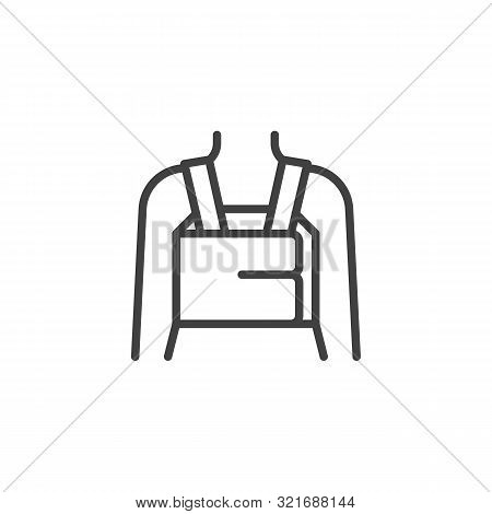 Orthopedic Lumbar Brace Line Icon. Linear Style Sign For Mobile Concept And Web Design. Posture Corr