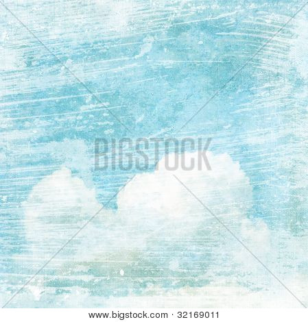 Vintage Texture Background With Clouds