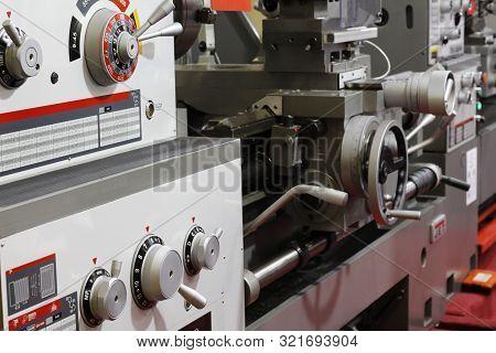 Metal Processing Machine. Cnc Metalworking Milling Machine.