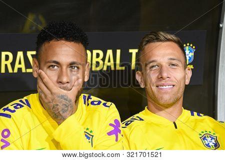 Brazilian Soccer Players Neymar Jr And Arthur