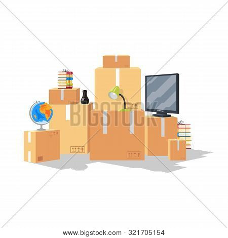 Moving By Reason Starting Of Education At University, College At Other City, Country. Relocation Fro