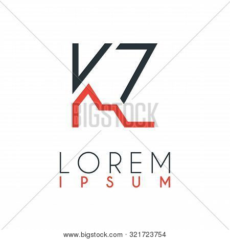 The Logo Between The Letter K And Letter Z Or Kz With A Certain Distance And Connected By Orange And
