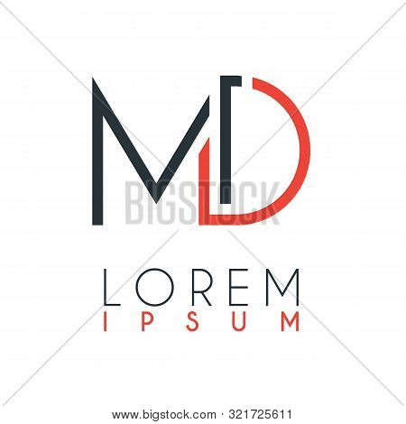 The Logo Between The Letter M And Letter D Or Md With A Certain Distance And Connected By Orange And