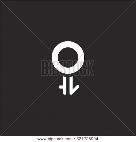 Intersexual Icon. Intersexual Icon Vector Flat Illustration For Graphic And Web Design Isolated On B