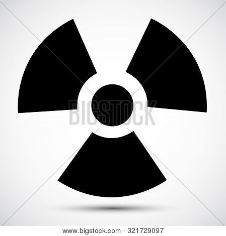Radiation Black Icon Isolated On White Background