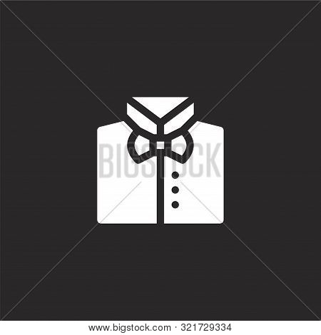 Bow Tie Icon. Bow Tie Icon Vector Flat Illustration For Graphic And Web Design Isolated On Black Bac