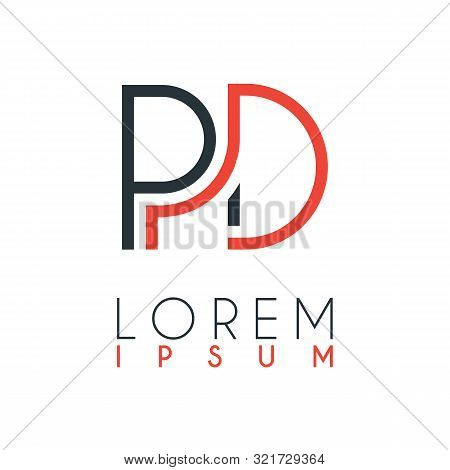 The Logo Between The Letter P And Letter D Or Pd With A Certain Distance And Connected By Orange And