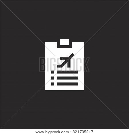 Check List Icon. Check List Icon Vector Flat Illustration For Graphic And Web Design Isolated On Bla